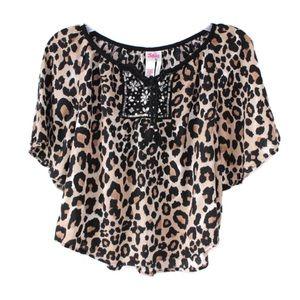 Justice leopard blouse 10